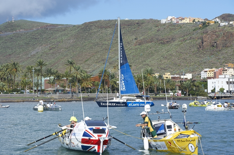 Teams on the start line of the Talisker Whisky Atlantic Challenge Credit Ben Duffy