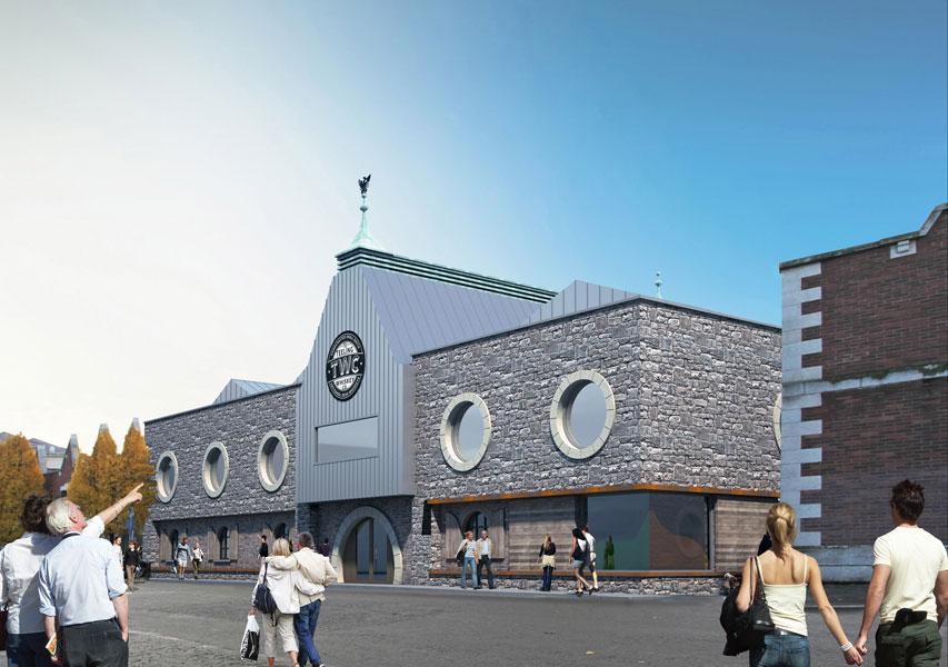 Modell der geplanten Teeling Whiskey Distillery