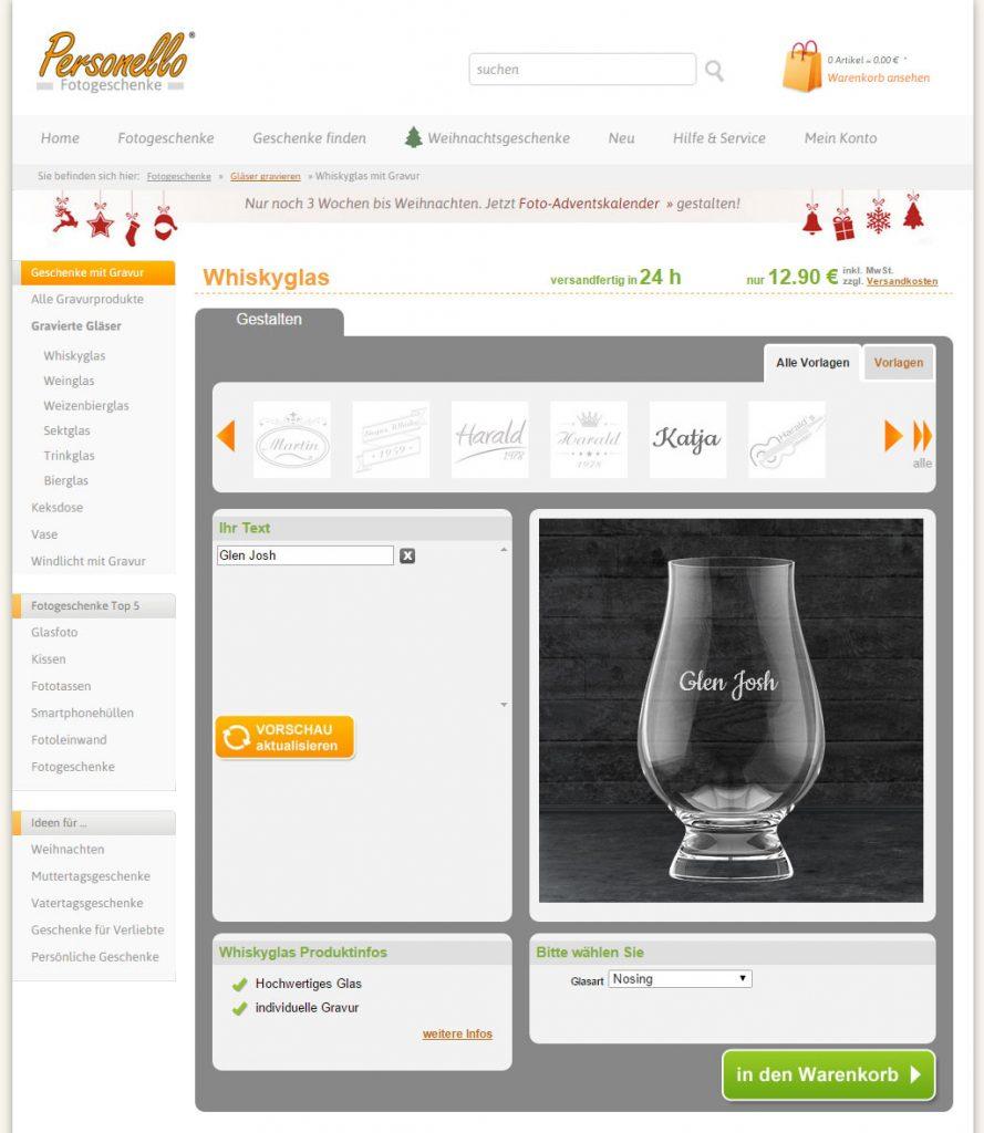 das individuelle geschenk whiskygl ser mit gravur bei personello whiskyfanblog de. Black Bedroom Furniture Sets. Home Design Ideas