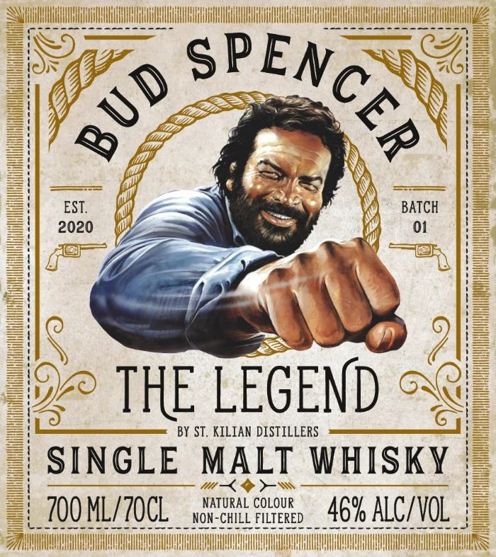 Bud Spencer The Legend Sngle Malt Whisky Label